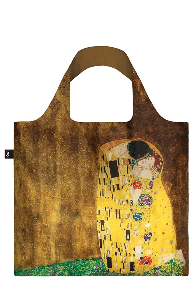 中古大聖堂家畜GUSTAV KLIMT, The Kiss. Bag: LOQI BAG: Ich wiege 55 g. Ich kann 20 kg tragen. Ich bin wasserabweisend und waschbar. OEKO-TEX? zertifiziert und aus Polyester.
