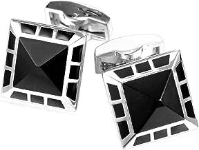 U7 Crystal Cufflinks Women Men Metal Gold/Platinum Plated Fancy Stone Cuff Links