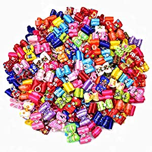 30pcs Dog Bows Rhinestone Pet Hair Bows with Rubber Bands 1.4″ Pet Grooming Bows Varies Colors Dog Hair Accessories