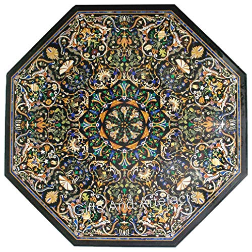 Gifts And Artefacts Pietra Dura Art Floral Design Inlaid Marble Office Meeting Table Top Nero Tavolo Ristorante Dimensioni 226