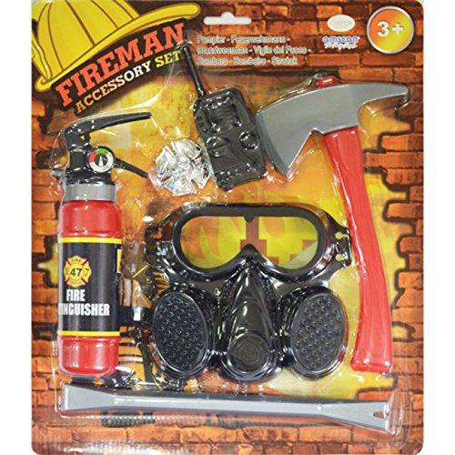 Amscan - 997581 - Set d'accessoires - Pompier - Garçon - 3-6 Ans