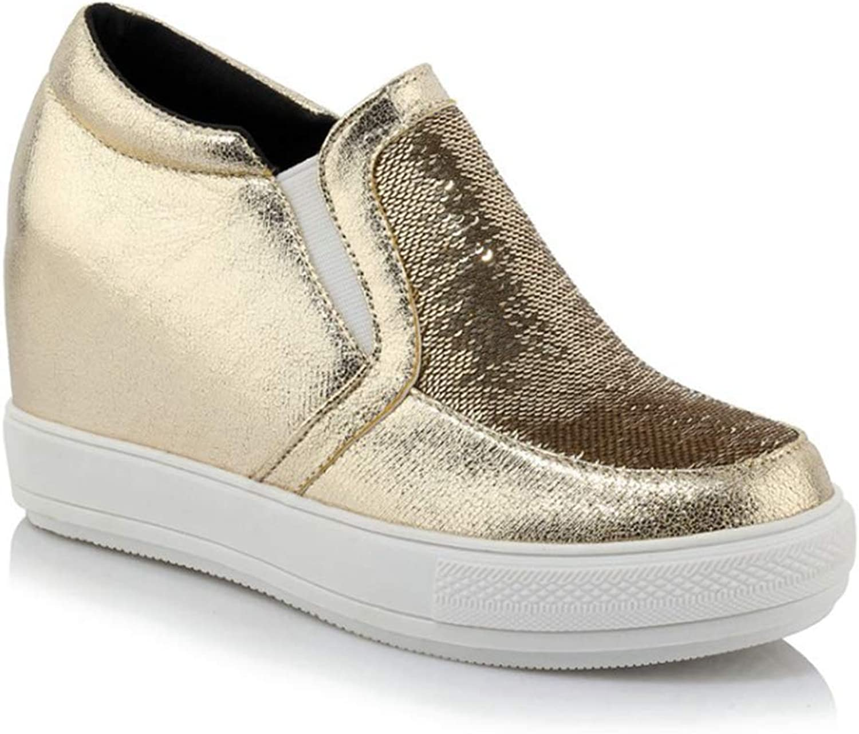 Btrada Women's Slip On Loafers Hidden Wedges Anti-Slip Platform Fashion Sneakers Casual Walking shoes