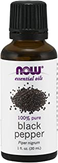 Now Essential Oils, Black Pepper Oil, Spicy Aromatherapy Scent, Stream Distilled, 100% Pure, Vegan, 1-Ounce