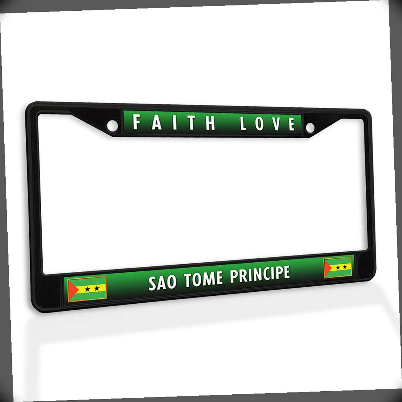 Max 43% OFF New License Plate Frame Faith Love Principe Tome Sao Max 53% OFF Metal Car I