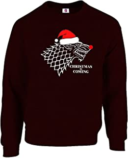 Graphic Impact Funny Christmas is Coming Game to Get to The Thrones Xmas Jumper Xmas Top