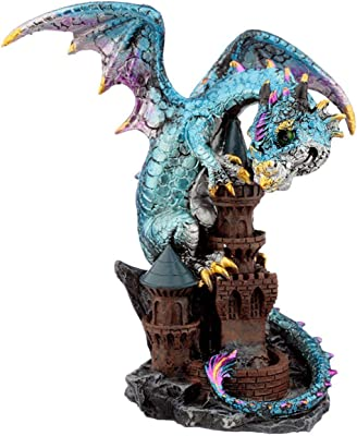 Puckator Castle Protector Elements Dragon Figurine x 1, Height 16-17cm Width 13-15cm Depth 9-10cm, Multi