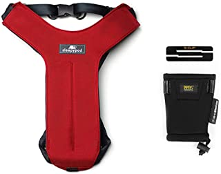Sleepypod Clickit Sport Bundle Edition - Safest Dog Travel Harness (Medium, Strawberry Red)