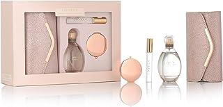 Sarah Jessica Parker Lovley Edp Spray de 100 ml bolígrafo de 10 ml bolsa de embrague de oro rosa y espejo