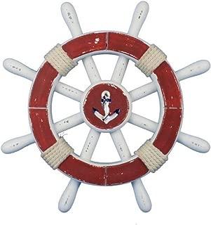 Hampton Nautical  Decorative Ship Wheel with Anchor, 12