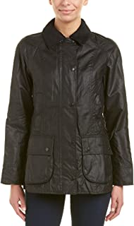 Barbour Womens Beadnell Wax Jacket, 14, Black