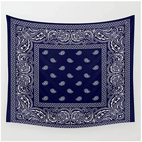 QJIAHQ Tapiz Azul Marino del suroeste Mandala Colgante de Pared decoración de habitación de brujería Colcha Cubierta decoración de Pared tapiz-150 * 200cm