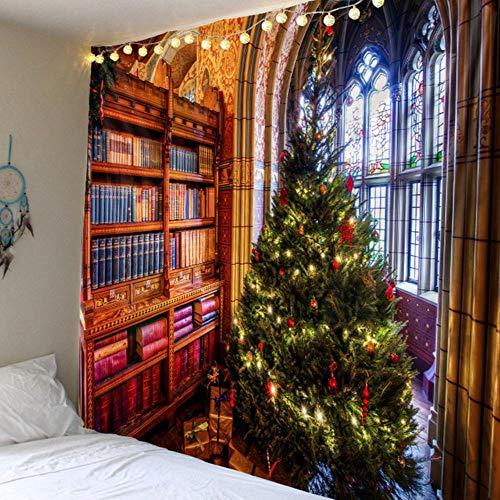 Tapiz de árbol de Navidad para colgar en la pared, decoración del hogar, tapiz de árbol de Navidad, tapiz grande