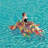 QUETAZHI El Anillo Inflable de natación de PVC Cama Flotante Juguetes inflables -200Cm Anillo de natación Rinoceronte Adulto Inflable Silla Flotante Flotante de Agua - Juguetes for la Piscina QU617