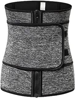 Milisten Weight Loss Belt Waist Trainer Belt Sports Workout Shapewear Waistband Body Shapers for Lady Grey 1pc (Size 4XL)
