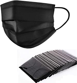 Yamde 50 Pcs Disposable Earloop Face Masks Germ Dust Protection Four Layer Activated Carbon Filter Face Masks