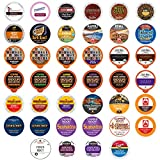 Dark Roast Coffee Pod Variety Pack - Dark, Strong, and Bold Coffee in a Bulk Sampler Pack for Keurig K Cups Coffee Makers , 40 Pack - No Duplicates