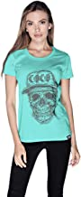 Creo Black Coco Skull T-Shirt For Women - S