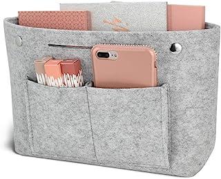 Newseego バッグインバッグ フェルト インナーバッグ 軽量 バッグ ポーチ バッグの中を整理整頓 バックインバッグ 多機能 メンズ レディース Bag in Bag (M)グレー