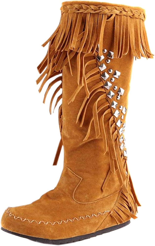 Kaizi Karzi Women Classic Hidden Heel Moccasin Boots