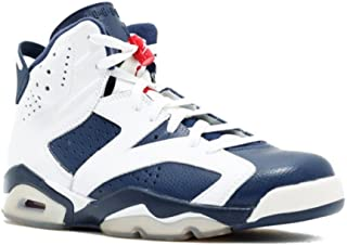 Air 6 VI Retro Olympic Men's Basketball Shoes White/Midnight Navy/Varsity Red