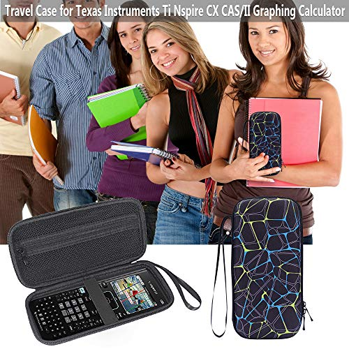 Cover for TI Nspire CX CAS - MASiKEN Carrying Case Storage Bag for Texas Instruments Nspire CX CAS Graphing Calculator, Texas Instruments, Casio, HP Graphing Calculator (Black) Photo #6