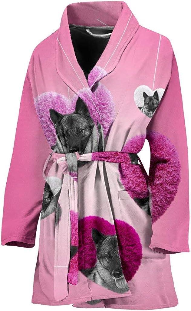 store Pawlice Max 67% OFF Norwegian Elkhound Dog Women's Print Bath Robe