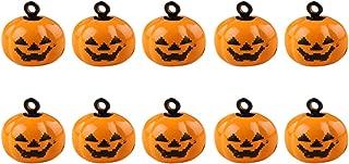 Liitrton 10 Pack Halloween Mini Pumpkin Bells Jack-O-Lanterns Ornaments Creative DIY Decorations