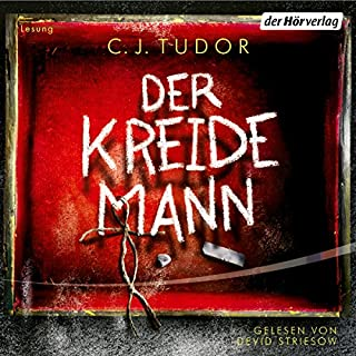 Der Kreidemann                   By:                                                                                                                                 C. J. Tudor                               Narrated by:                                                                                                                                 Devid Striesow                      Length: 7 hrs and 29 mins     Not rated yet     Overall 0.0