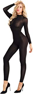 MSemis Sexy Womens Mesh See Through Bodystocking Full Body Catsuit Teddy Bodysuit
