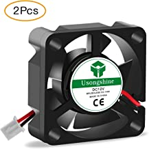 Usongshine 3D Printer Cooling Fan 30 x 30 x10mm 3010 DC 12V Cooling Fan with 2Pin Wire, 2 Packs of Mounting Screws (12V Pack of 2)