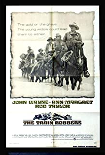 Train Robbers (1973) Original release, Authentic John Wayne 27x41 One Sheet (Style B) Movie Poster