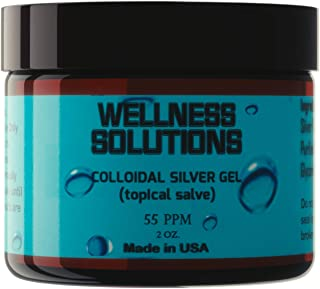Colloidal Silver Gel - Wellness Solutions Colloidal Silver - Topical Salve - Antibacterial - Vegan - Gluten Free - 2 oz.