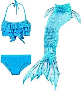 Niñas Cola de Sirena con Bikini para Fiesta de Natación Cosplay