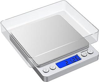 Proster Mini Escala Digital de Bolsillo 0.01-500g Escala Postal de Alta Precisión para Alimento de la Cocina, Pesar Gemas,...