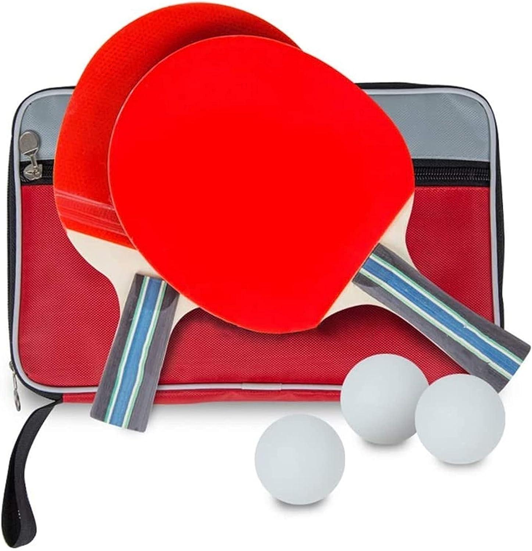ZFQZKK Ping Pong Paddle Raqueta de tenis Tiro acabado Tiro para principiantes Tapa de tenis de mesa Raqueta larga y corta Handilla recta horizontal 3 bola 1 Racket Shake Hands Hands Abrigos juego de p