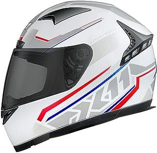 Capacete X11 Moto Motoqueiro Volt Dash Branco tricolor 60