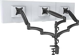 HFTEK   Monitorarm   Triple   Halterung Halter Tischhalterung für 3 Bildschirme von 15   27 Zoll mit VESA 75/100 (FY138DB)