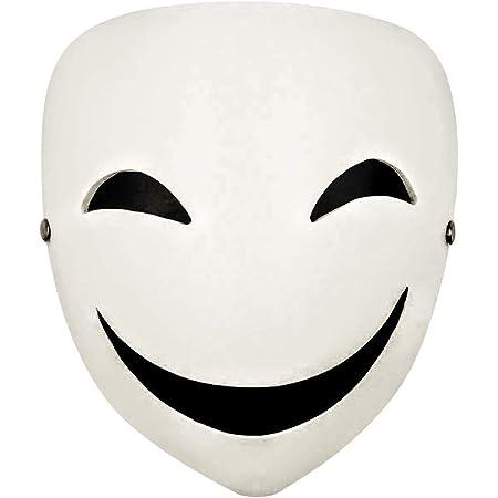 ハロウィン マスク おもしろマスク 被り物 クリスマス コスプレ ハロウィン コスプレ 笑顔仮面 ホラーマスク 仮面 お面 仮装 笑顔マスク おもしろ クリスマス パーティー イベント に (白面) 【Atmu】