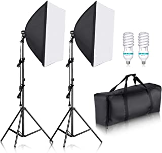Neewer 700W Professional Photography 24x24 inches/60x60 Centimeters Softbox with E27 Socket Light Lighting Kit