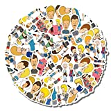20 PCS Stickers Pack Beavis Aesthetic and Vinyl Butthead Colorful Waterproof for Water Bottle Laptop Scrapbooking Luggage Guitar Skateboard