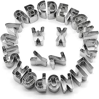 Toim DIY para tartas de acero inoxidable 26 alfabetos molde DIY Fondant Pastel Decoración Letras del