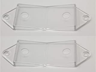 Clear Rocker Switch Plate Cover Guard 2 Pack - Keeps Light Switch ON or Off Protects Your Lights or Circuits from Accidentally Being Turned on or Off.