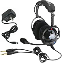 Rugged Air RW-RA900 General Aviation Pilot Headset Featuring Bluetooth Connectivity, 24dB Noise Reduction Rating and Full ...