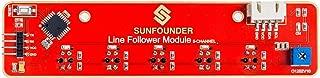SunFounder Line Tracking Sensor Infrared IR Detection I2C 5-Channel Line Follower Module for Raspberry Pi Arduino Smart Car Robot Robotics MCU ATMEGA328P TCRT5000