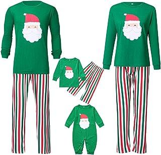 K-Youth Ropa para Padres e Hijos Pijamas de Navidad Familiar Conjuntos Bebe Niño Navidad Mameluco Bebé Niña Ropa Mujer Hombre Invierno Ropa de Dormir Familiares