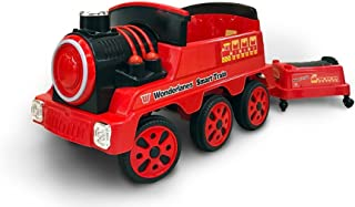 Wonderlanes 12V Ride On Train with Trailer, Battery Powered Wheels