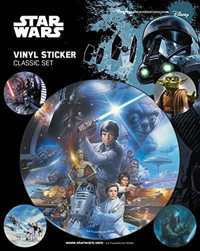 1art1 Star Wars Poster-Sticker Autocollant - Classic Sticker Pack (12 x 10 cm)