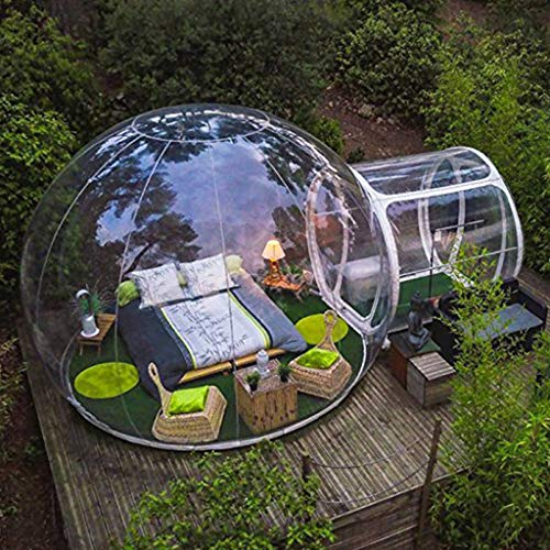 A&DW Luxuriöse Outdoor-Camping-Inflatable Blase Zelt, Große DIY Haus Dome Camping Kabine Lodge Luftblase Transparent Zelt,5M