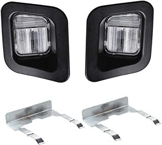 HERCOO License Plate Lights Lamp Lens Black Clips Housing Compatible with 2003-2018 Dodge Ram 1500 2500 3500 Pickup Truck Rear Step Bumper Aftermarket Replacement, Pack of 2