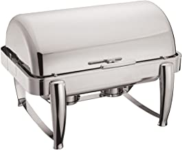 Winware 8-Quart Oblong Roll Top Chafer, Full Size Stainless Steel Chafing Dish
